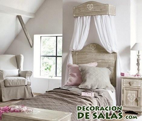 cama sencilla con dosel