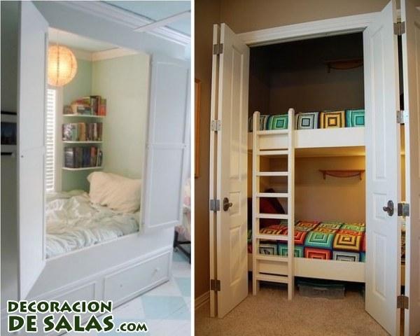 Un escondite para tus camas - Cama empotrada en armario ...
