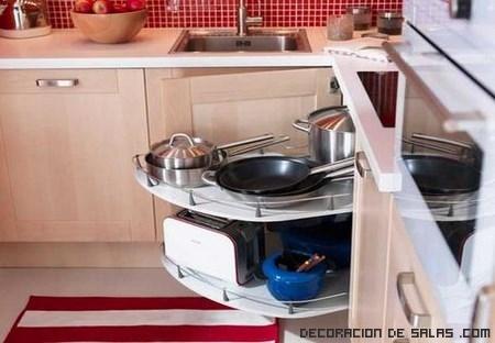 C mo aprovechar las esquinas en la cocina - Muebles de cocina en esquina ...