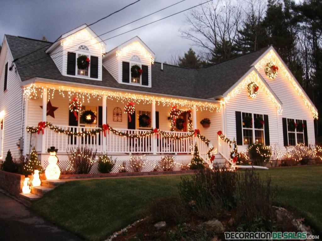 casa adornada para navidad