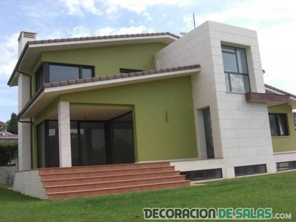 casa pintada de verde