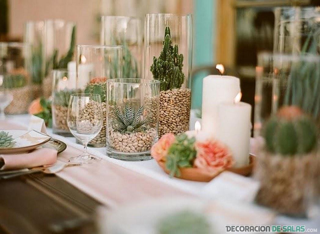 Ideas de centros de mesa para tu sal n for Centro de mesa de cristal