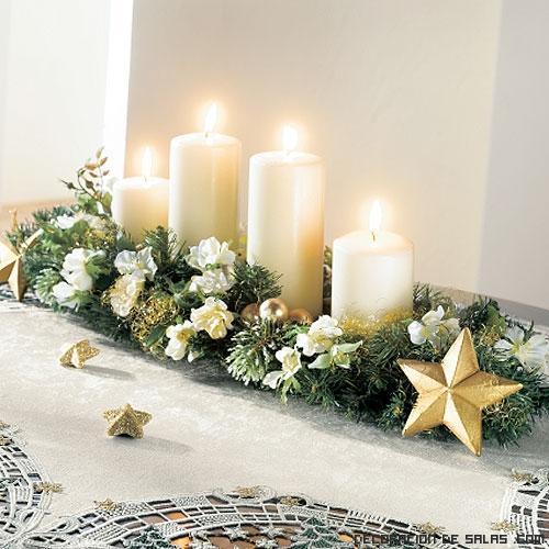 Centros de mesa navide os for Adornos para mesa de comedor rectangular
