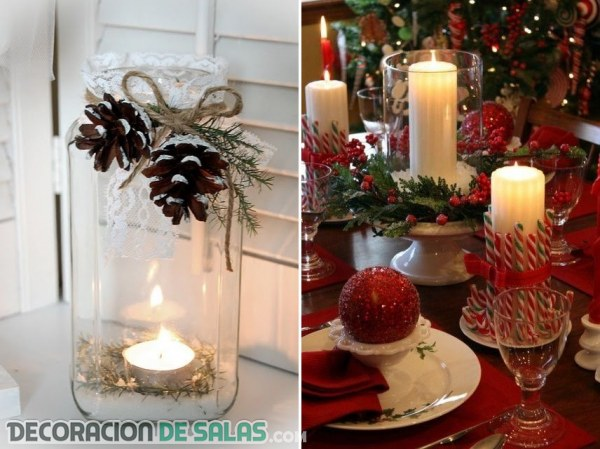 Centros de mesa para navidad for Arreglos navidenos para mesa