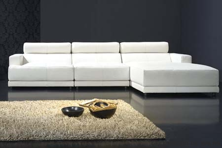 chaise lonque blanco