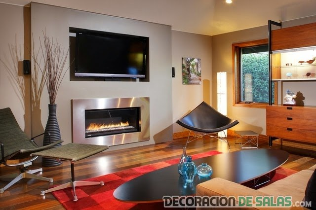Ideas de salones con chimenea - Labores decorativas para la casa ...