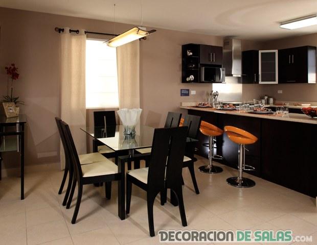 Cocinas con comedores integrados for Decoracion cocina comedor