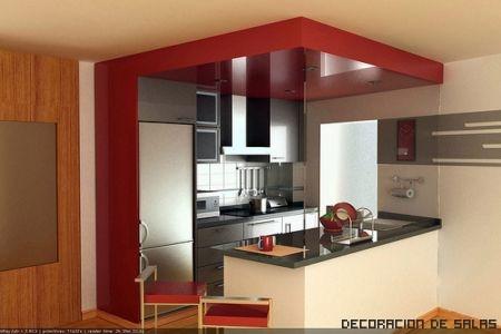 cocina abierta tambin se la conoce con el nombre de americana se trata de una cocina que se abre hacia el saln o el comedor favorecen el dinamismo ya - Cocinas Cuadradas