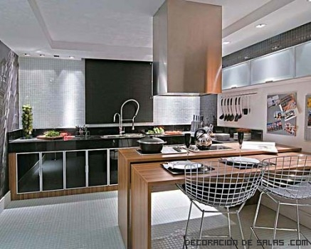 Tres cocinas americanas for Barras americanas