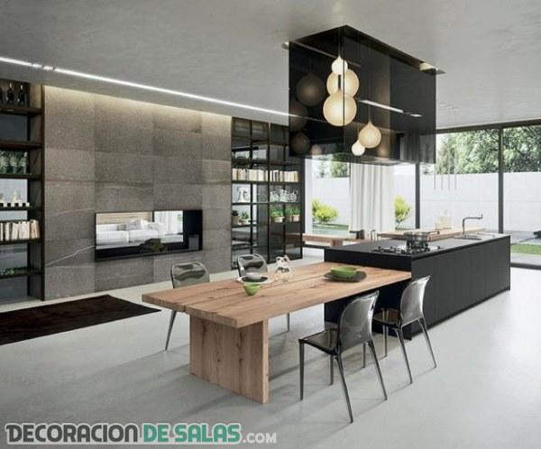 Una cocina bien aprovechada con la prolongación de encimera