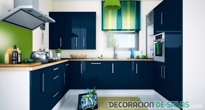 cocinas en azul. Black Bedroom Furniture Sets. Home Design Ideas