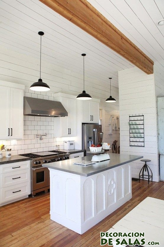 El blanco para tu cocina - Cocinas rusticas blancas ...