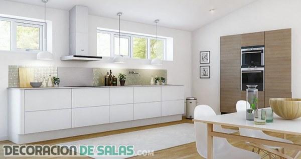 Cocinas blancas, ¡inspírate con estas imágenes!