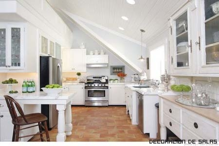 Ideas para decorar una cocina blanca