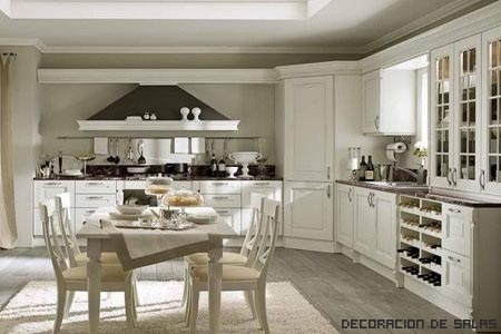 Cocina vintage for Cocina blanca electrodomesticos blancos