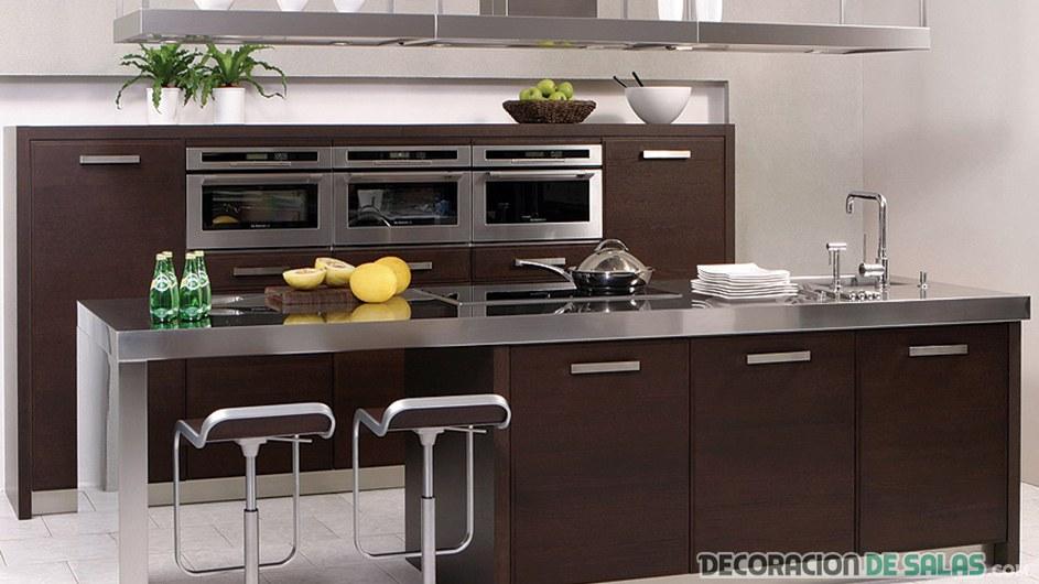 imagenes de muebles de cocina lineales