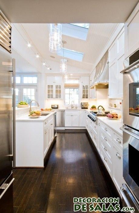 cocina decorada en blanco