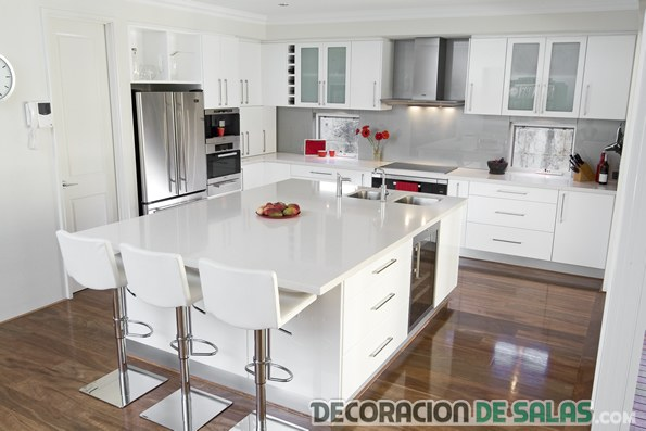 cocina decorada total white