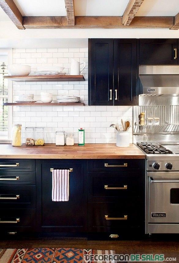 Fantástico Armarios De Cocina Azul Marino Oscuro Fotos - Ideas de ...