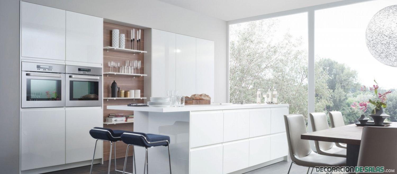 Cocinas leicht cuatro modelos para elegir - Alicatar cocina detras muebles ...