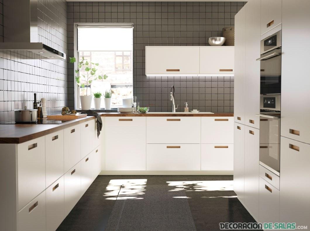 4 cocinas modernas de ikea - Cocinas de color blanco ...