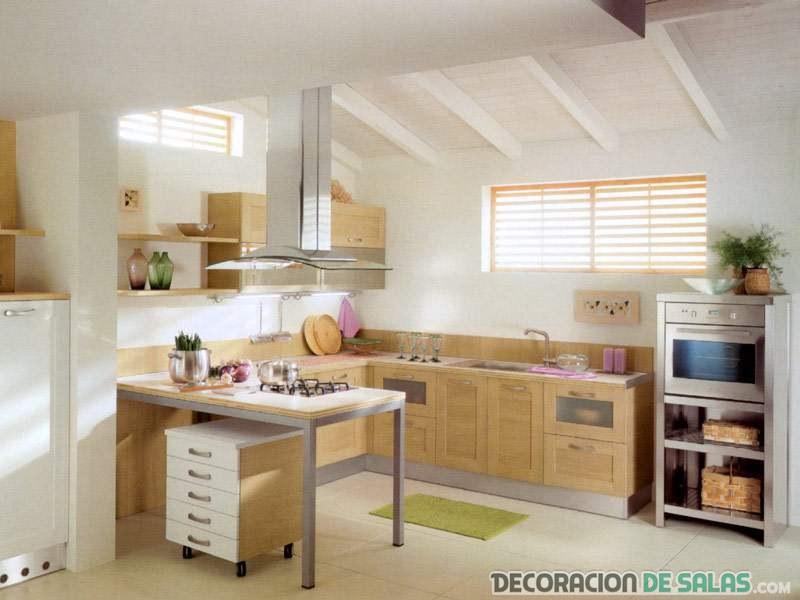 cocina en color marrn