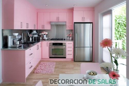 Ideas para una cocina en color rosa - Cocinas rosa fucsia ...