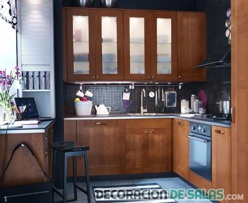 cocina en madera moderna