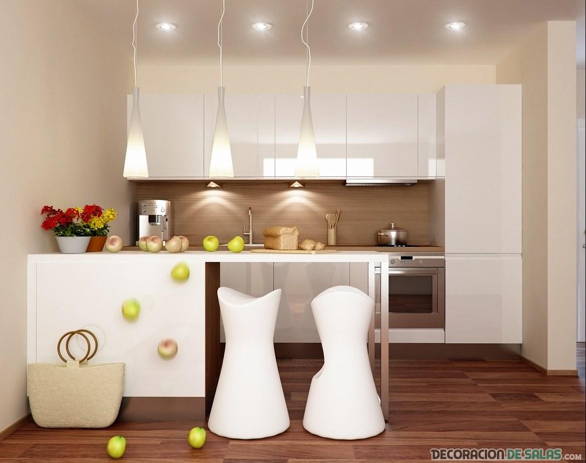 Cocinas peque as con mucho encanto - Cocinas en color blanco ...