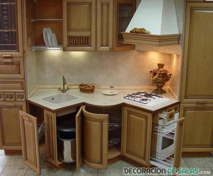 Cocinas muy funcionales para cada d a - Cajones para cocinas ...