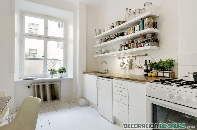 cocina grande en color blanco