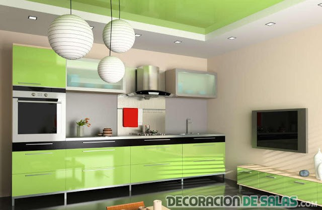 Decoraci n de interiores en verde lima lim n for Muebles limon