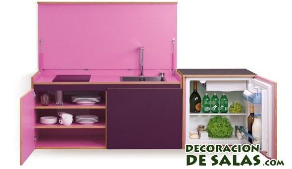 Cocina mini en rosa
