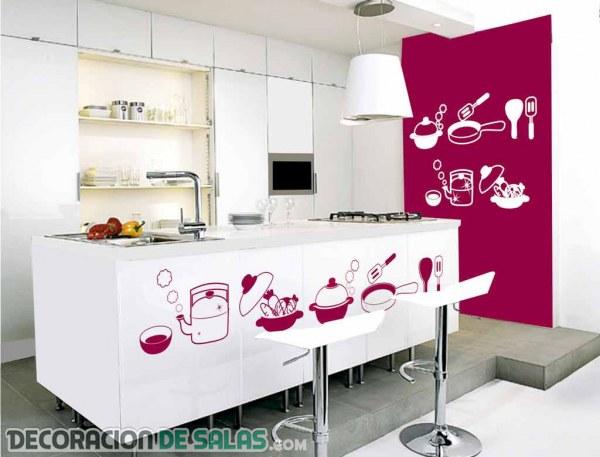Vinilos para alegrar la decoraci n de tu cocina for Pegatinas para muebles