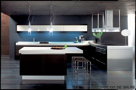 Claves de una cocina moderna - Iluminacion para cocinas modernas ...