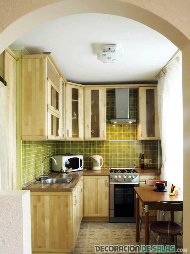 cocina rinconera de madera