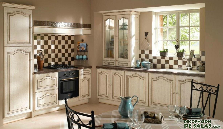 Tres cocinas r sticas muy elegantes - Cocinas con azulejos beige ...