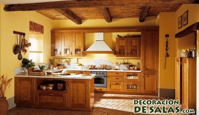 Tres cocinas r sticas muy elegantes for Cocinas coloniales modernas