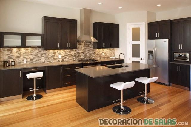 Modernas cocinas en color wengu - Muebles de cocina color wengue ...