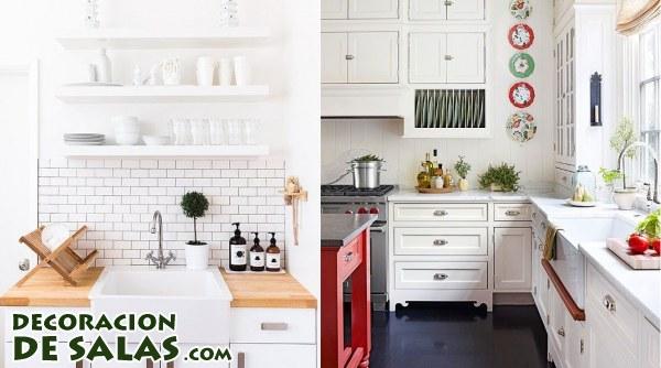 Fregaderos y cocinas en color blanco for Cocinas en color blanco