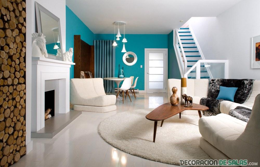 color azul para la decoración del hogar