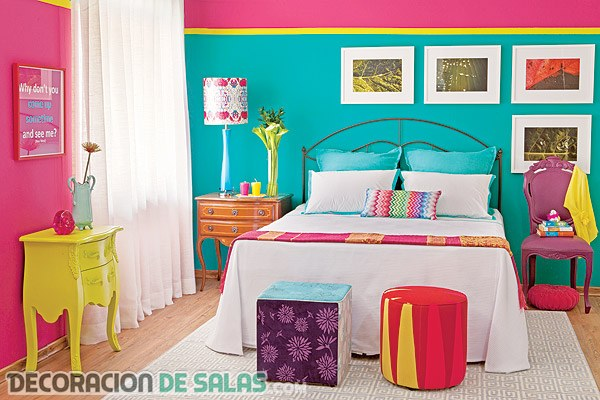 Los colores ne n inundan nuestra decoraci n for Decoracion para pared fucsia