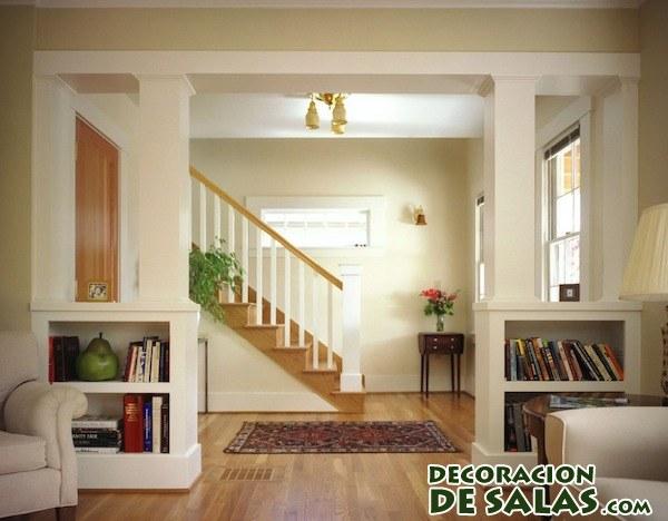 Salones con columnas - Como decorar una columna en el salon ...