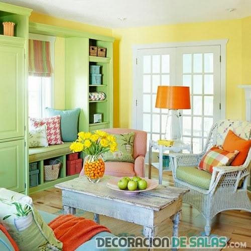 combinación de colores en el salón