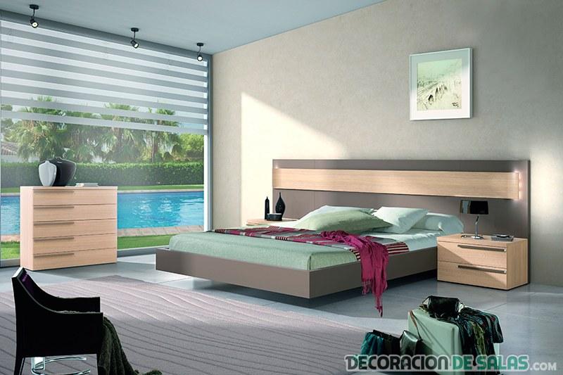 combinación del color marrón en dormitorio moblerone