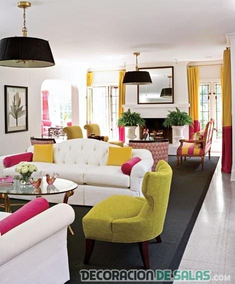 combinar tonalidades de sofá