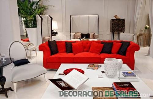 Sof s en color rojo para tu decoraci n for Muebles rojos para sala