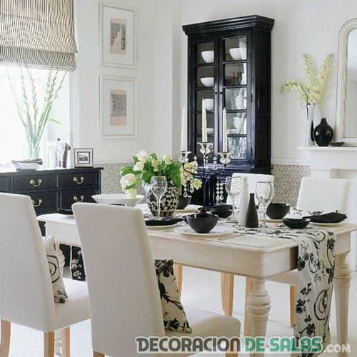 Comedores modernos en blanco y negro - Comedor blanco y negro ...