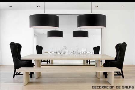 Consejos para conseguir un comedor elegante - Comedor blanco y negro ...