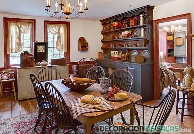 salones y comedores de estilo colonial